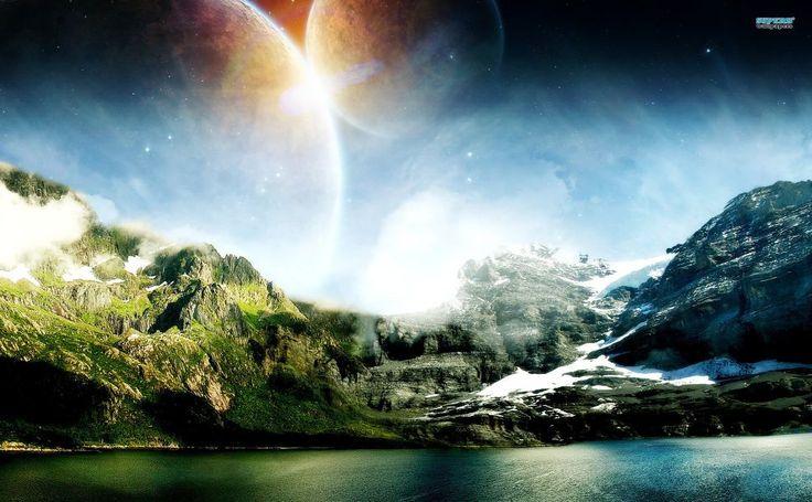 Two moons HD Wallpaper