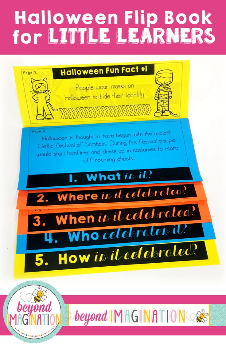 Halloween | Halloween Flip Book | Kindergarten | 1st Grade | 2nd Grade | 3rd Grade | Flipbook Ideas | How to Make | School Activities | Teaching Ideas | Halloween Printables | Halloween Interactive Notebook |