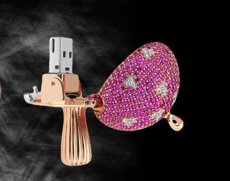 La chiavetta usb Mushrooms in diamanti e pietre preziose