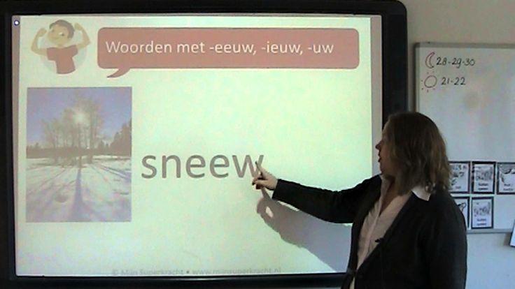 Spelling: woorden met -eeuw, -ieuw, -uw (+afspeellijst)