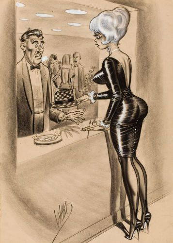 """BILL WARD - """"But you asked me to check your hat, and I had some spare time."""""""