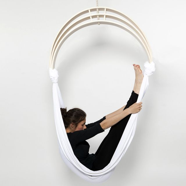 Yoga chair for de-stressing at work. Might be able to get in it but not sure about getting out...