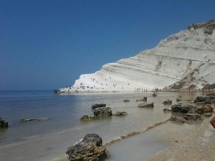 La scala dei turchi: a wonderful unique white cliff on the sea
