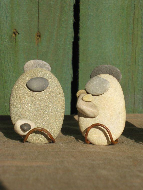 River Stone Nativity Set by kcLinn on Etsy