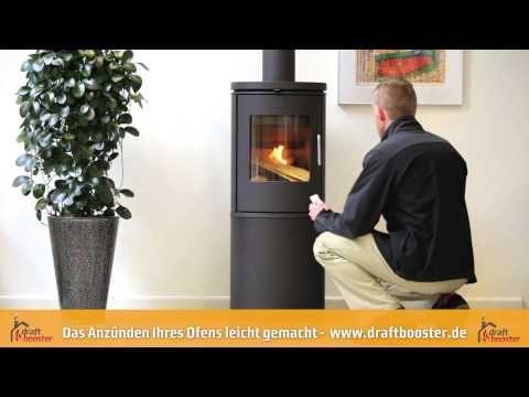 Draftbooster - Der Rauchsauger für den Schornstein. Das Anzünden Ihres O...