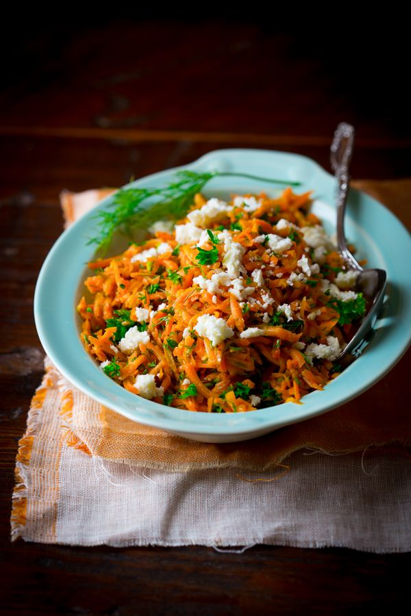 Lemony Carrot Salad with Mustard Seeds + Feta | Healthy Seasonal Recipes
