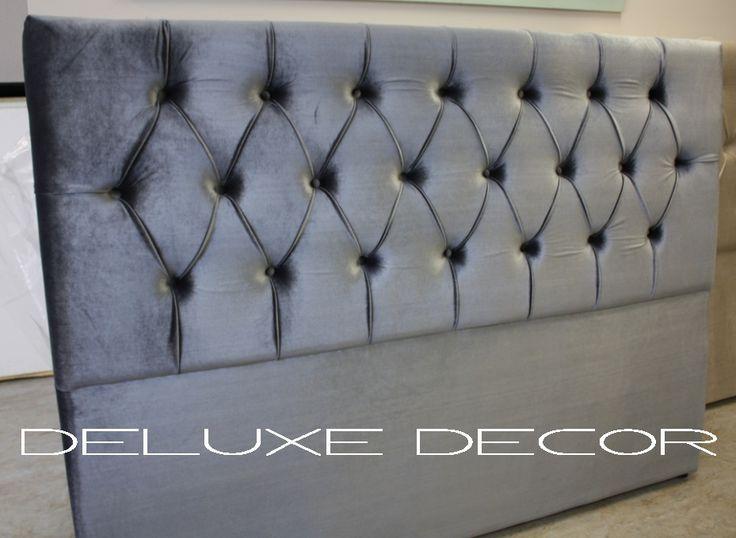 Harper Elegant Velvet Tufted Upholstered KING Bedhead Headboard  http://deluxedecor.com.au/products-page/harper-collection/