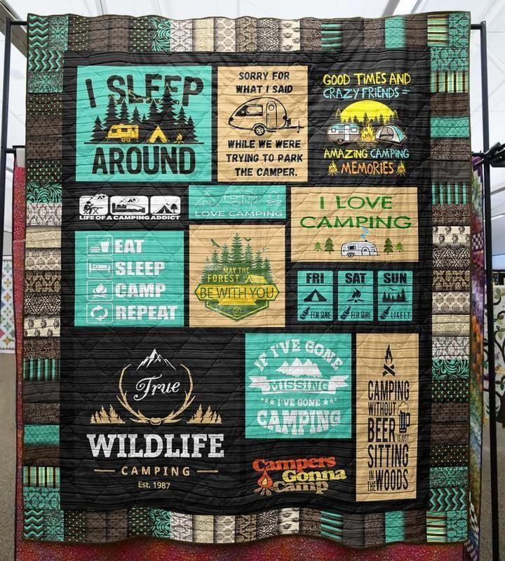 LOVE CAMPING QUILT   Camping quilt, Camping blanket, Quilt