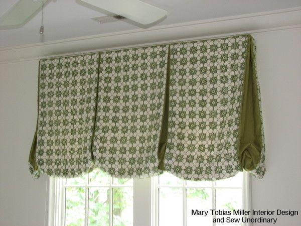 Balloon Valance Traditional Curtains Charlotte Sew
