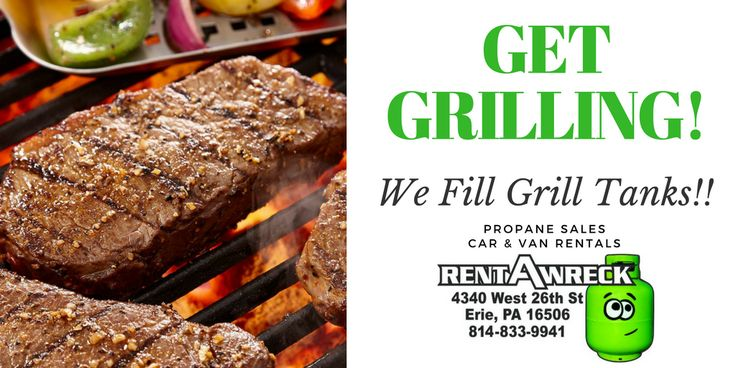 Open Mon-Fri 8am-6pm & Sat 10am-3pm.Stop by and get those propane tanks filled up! Open today from 8am-6pm. #propane #propaneerie #eriepa #rentawreck #summertime #grilling #bbq