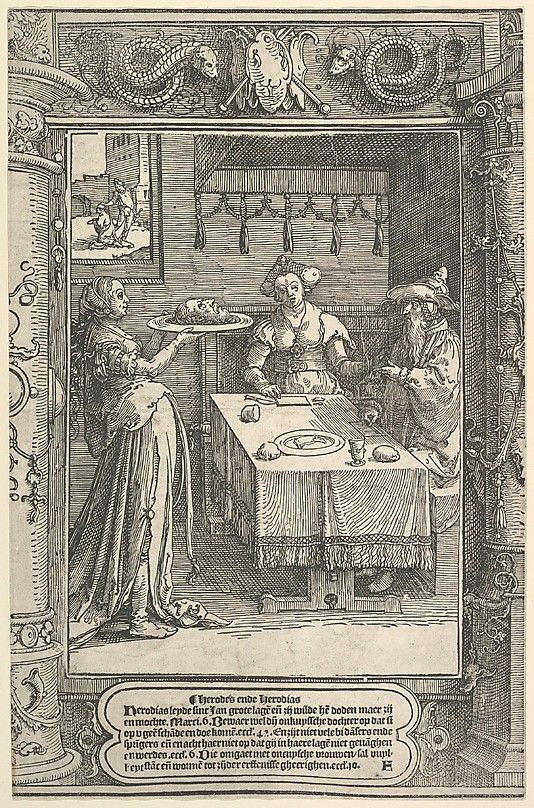 Salome with the Head of John the Baptist Lucas van Leyden (Netherlandish, Leiden ca. 1494–1533 Leiden)
