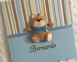 Livro do Bebê Azul e Marrom - Ursinho