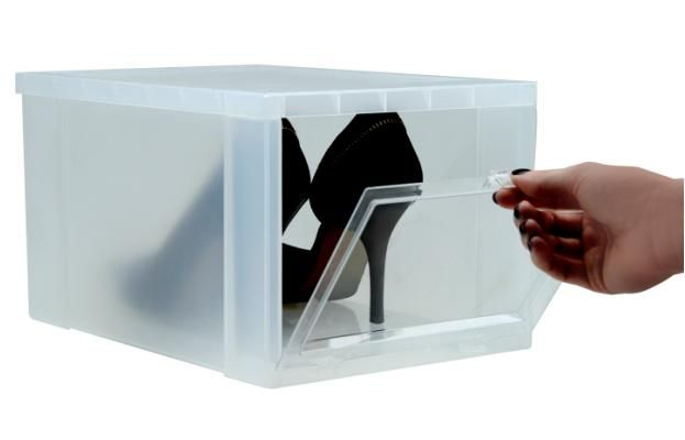 Iris Drop Front Shoe Box Home Organizing Products