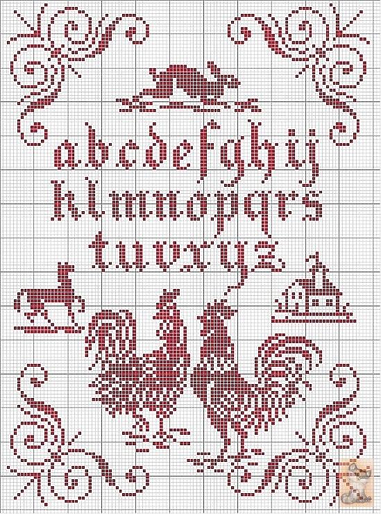 Red sampler pattern