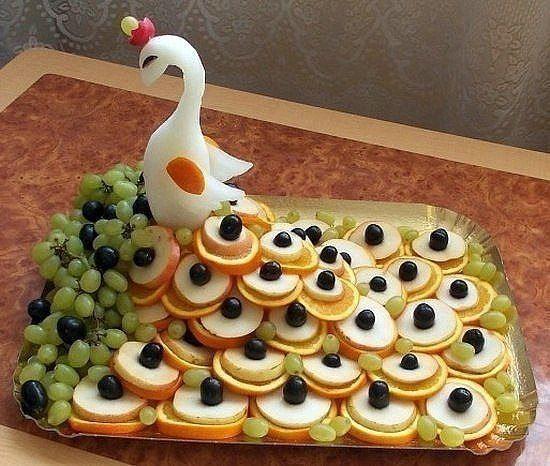 Красивые фруктовые тарелки.