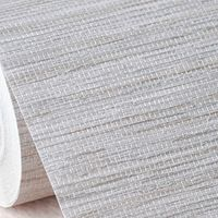 New Faux Effect Grasscloth Straw Modern Textured Wallpaper Bedroom,Office WallPaper PVC Beige Grey Background Wallpaper