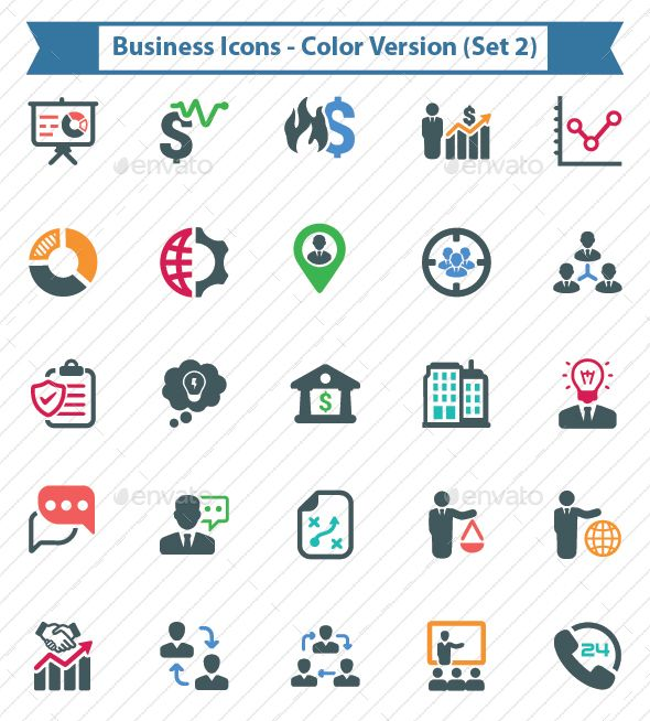 Business Icons - Color Version (Set 2) - Business Icons