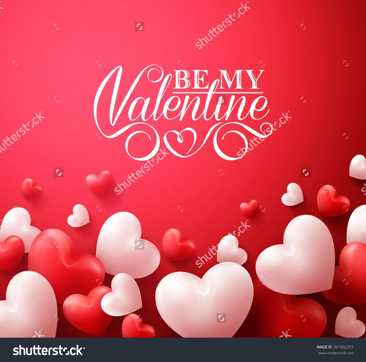 realistic 3d colorful romantic valentine hearts in red background floating with happy valentines day greetings