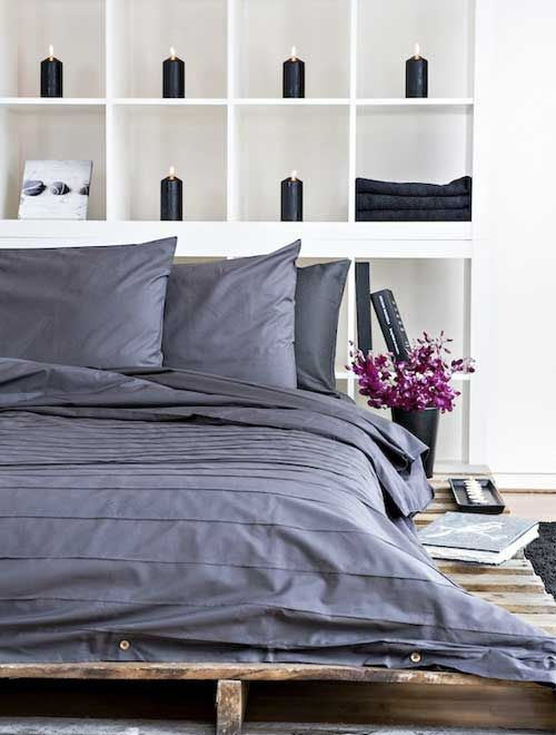 Moody grey organic cotton bed linen by Bhumi #Fairtrade #GOTS certified