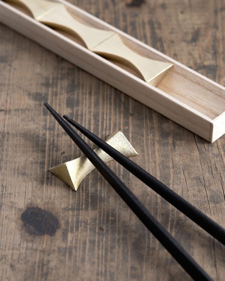 "Brass Chopstick Rests ""Flash"" - Futagami - Nalata Nalata"