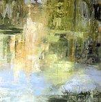 JJ005, Autumn Light at Miserden, acrylic on paper, 53 x 53cm