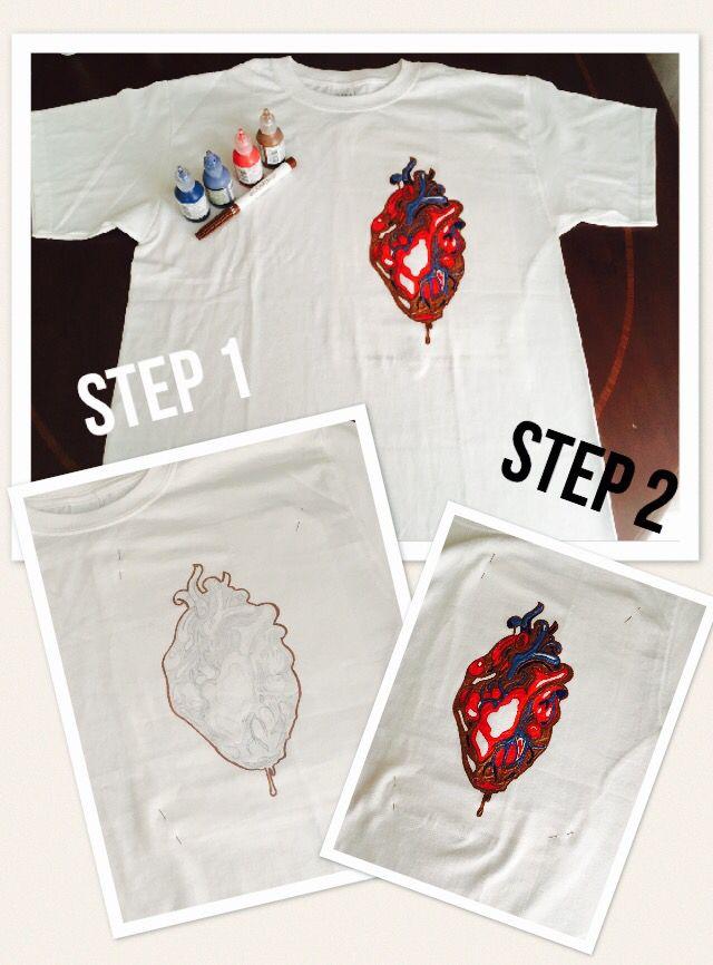 DIY Painted t-shirt ❤️