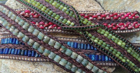 Braided and Beaded Leather Bracelet Tutorial PDF  by 4petessake, $ 10