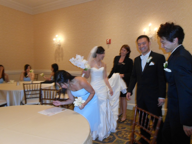 #Bride, Linda, and #Groom, Luke, with their #Maid-of-Honor, and Best Man, who witnessed their #marriage #certificate that I made for them.