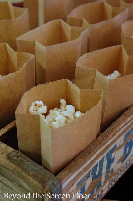 Popcorn for Baseball Themed Baby Shower (5)