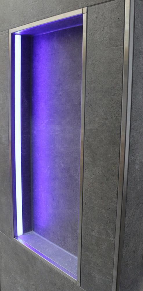 Nische In Der Dusche Mit Led Technik Bad Ablage B Dusche