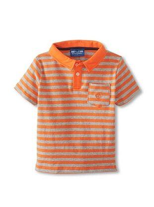 57% OFF Andy & Evan Boy's 2-7 Nick-Nack Polo (Orange Stripe)