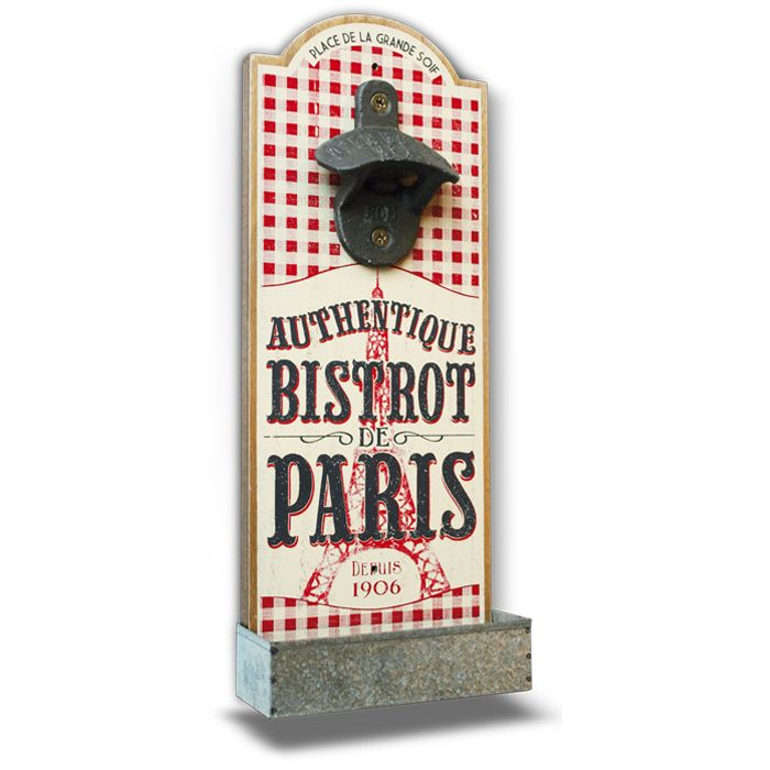 Retro Style Bistrot Paris Bottle Opener
