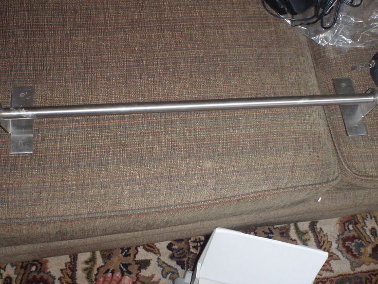 ikea grundtal 15386 kitchen rail 21 inches long stainless steel utility rod ebay stainless. Black Bedroom Furniture Sets. Home Design Ideas