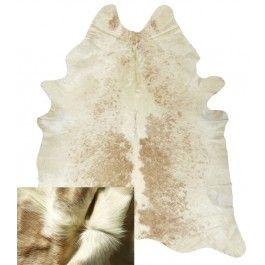 NATURAL COWHIDE RUG BEIGE & WHITE
