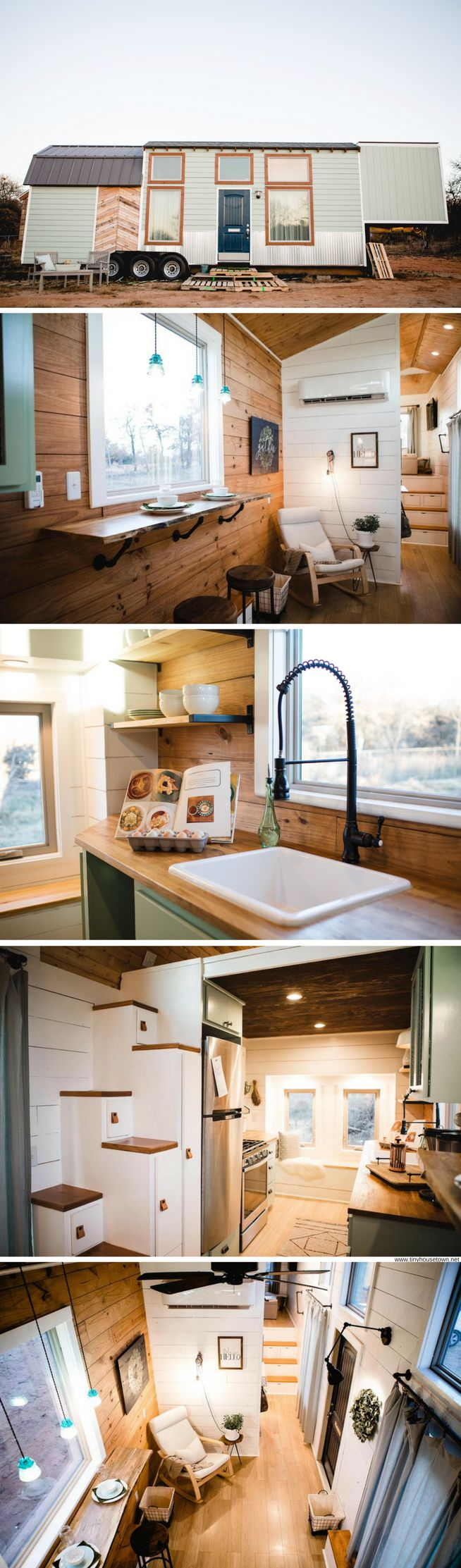The Molly: a luxury 340-sq-ft tiny house available for sale in Oklahoma City!