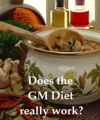 Does the GM diet (General Motors diet) really work? The entire diet laid out including the 7 day plan, as well as why it is supposed to work and results after 7 days.