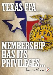 Texas FFA. Membership has it's privileges