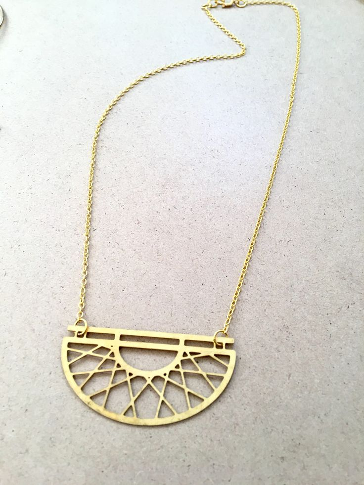 A personal favourite from my Etsy shop https://www.etsy.com/au/listing/519362792/geometric-brass-necklace
