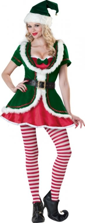 Carry the Christmas love into Halloween with a Santa's Helper costume!