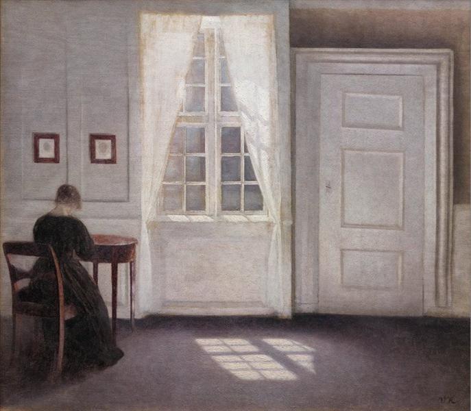 Interior from Strandgade with Sunlight on the Floor - Hammershoi Vilhelm