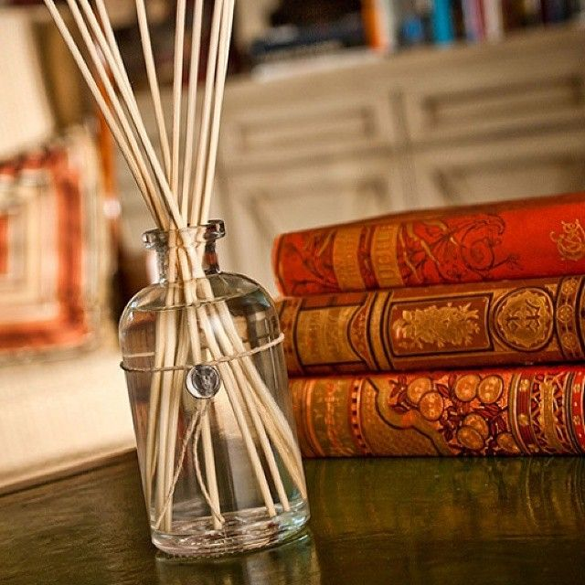 Dad will love our manly Champaca™ fragrance!  #fragrance #reeddiffuser #champaca #votivo #homefragrance #homedecor #oldbooks #vintage #glassbottle #fathersday #giftideas #gifts #fordad #giftsfordad #fathersday2015