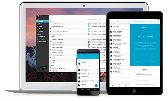Work with your team securely, wherever you are with Tresorit