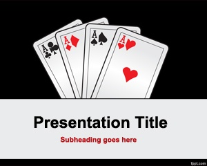 25 best games powerpoint templates images on pinterest plants free poker cards powerpoint template with dark background style toneelgroepblik Images