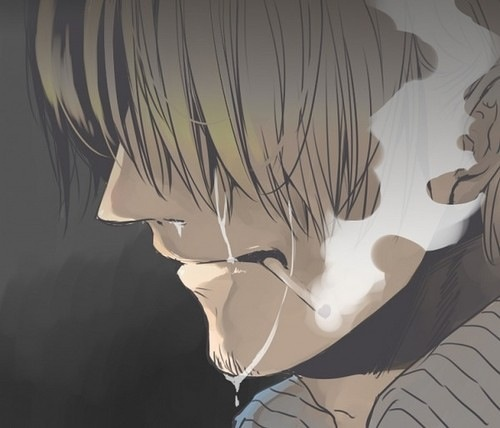 Tears aren't a sign of weakness but one of compassion. Sanji One Piece