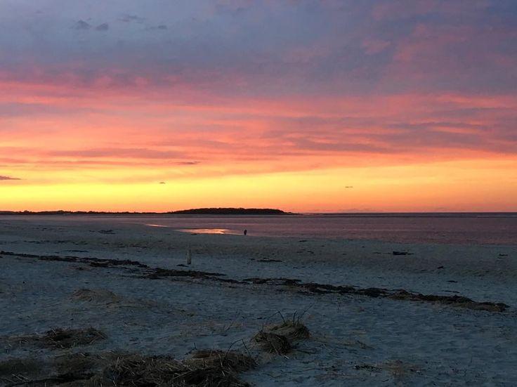 #beautiful #sunset tonight at the #beach #ocean #massachusetts #coast #cranebeach #trustees