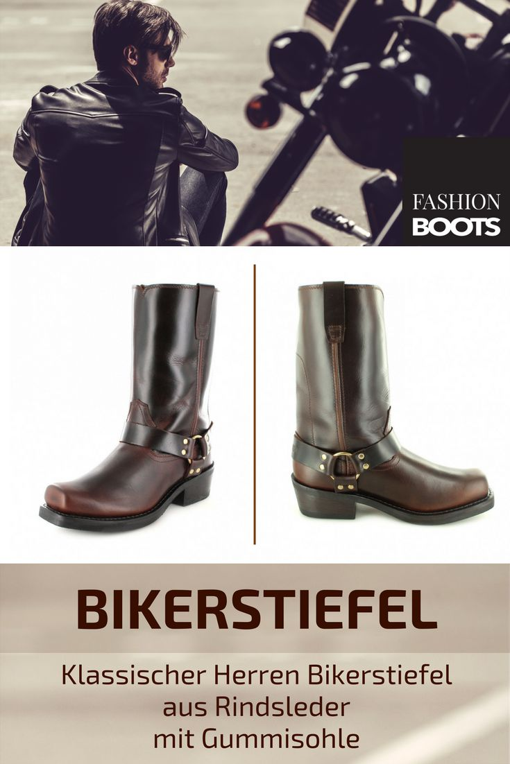 Durango Boots HARNESS DB514 EE Brown Bikerstiefel - dunkelbraun | Klassischer Herren Bikerstiefel aus Rindsleder