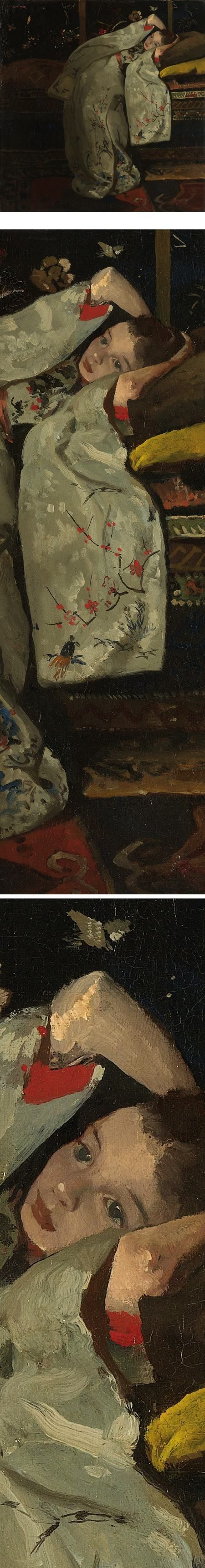 Eye Candy for Today: Breitner's Girl in a White Kimono