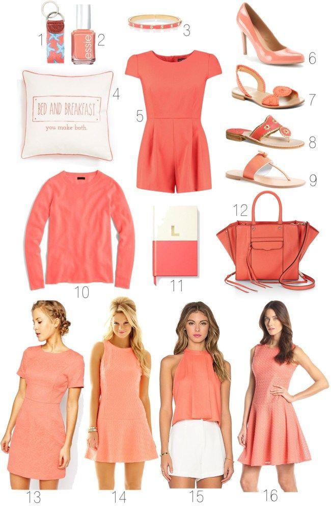 Pantone Peach Echo Spring Fashion