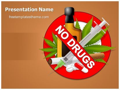 Get This Free No Drugs Powerpoint Template With