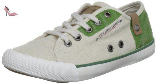 Pepe Jeans London  BTJ-271 B1, basket mixte enfant - Vert - Grün (Green), 33 EU - Chaussures pepe jeans (*Partner-Link)